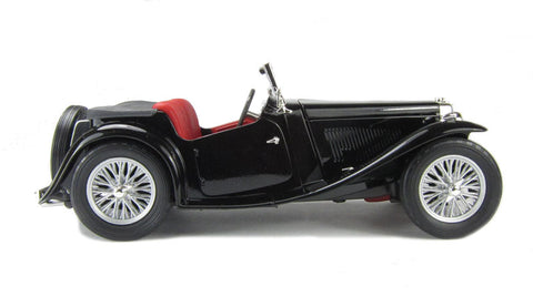 '47 MG TC Midget Black with red leather interior