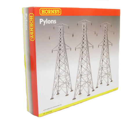 Overhead power pylons - pack of three