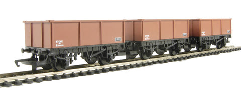 Pack of 3 16 ton mineral wagons in BR bauxite - Railroad Range