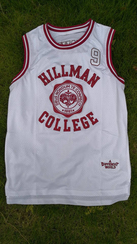 A DIFFERENT WORLD HILLMAN COLLEGE JERSEY WHITE