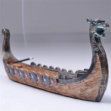 Load image into Gallery viewer, Hand Carved Dragon Boat Incense Holder