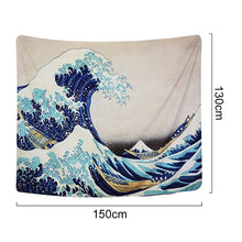 Load image into Gallery viewer, Hokusai's Wave Tapestry