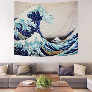 Hokusai's Wave Tapestry