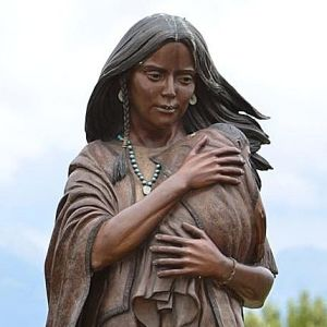 Sacagawea and son