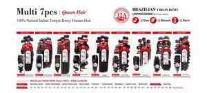 "HH Queen Hair Multi 7Pcs 10/12/14"" +Closure"