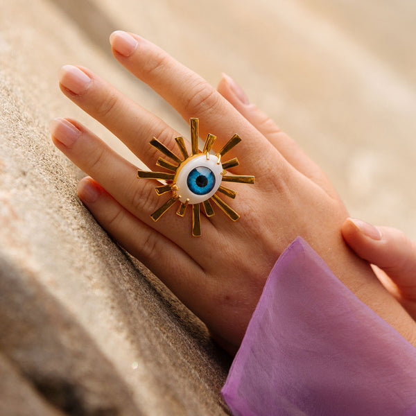 Third Eye Starburst Ring- XL