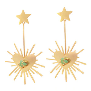 Lucci's Heart Starburst Earrings