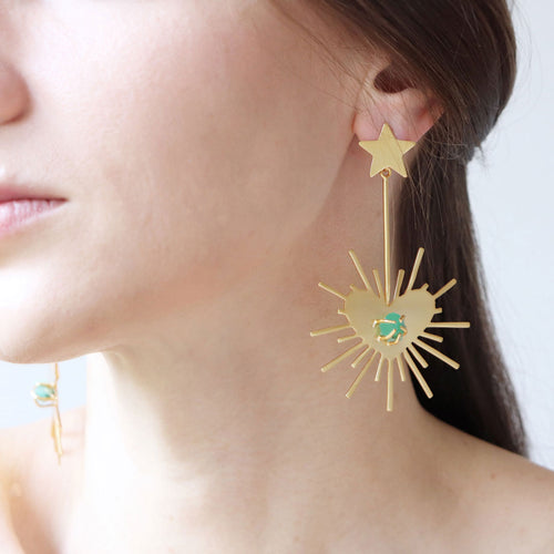 Luciana Heartburst Earrings- XL