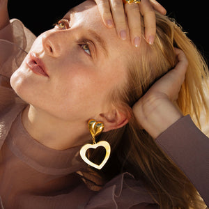 Lola Heart Earrings