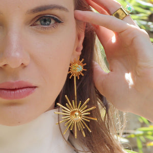 Luciana's Starburst Circle Earrings