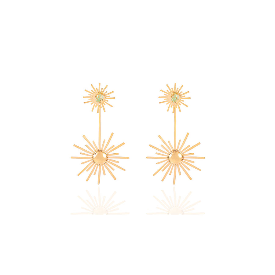 Small Luciana's Starburst Circle Earrings