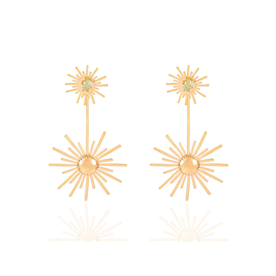 Luciana's Starburst Circle Earrings XL