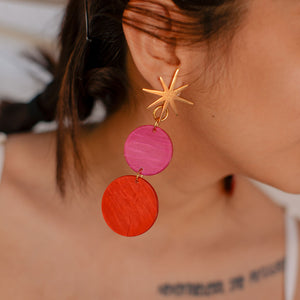 Double Pop Moon Earrings