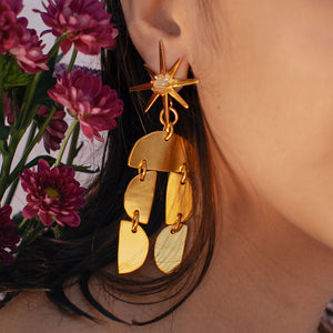 Gold earrings- lina hernandez jewelry - new york