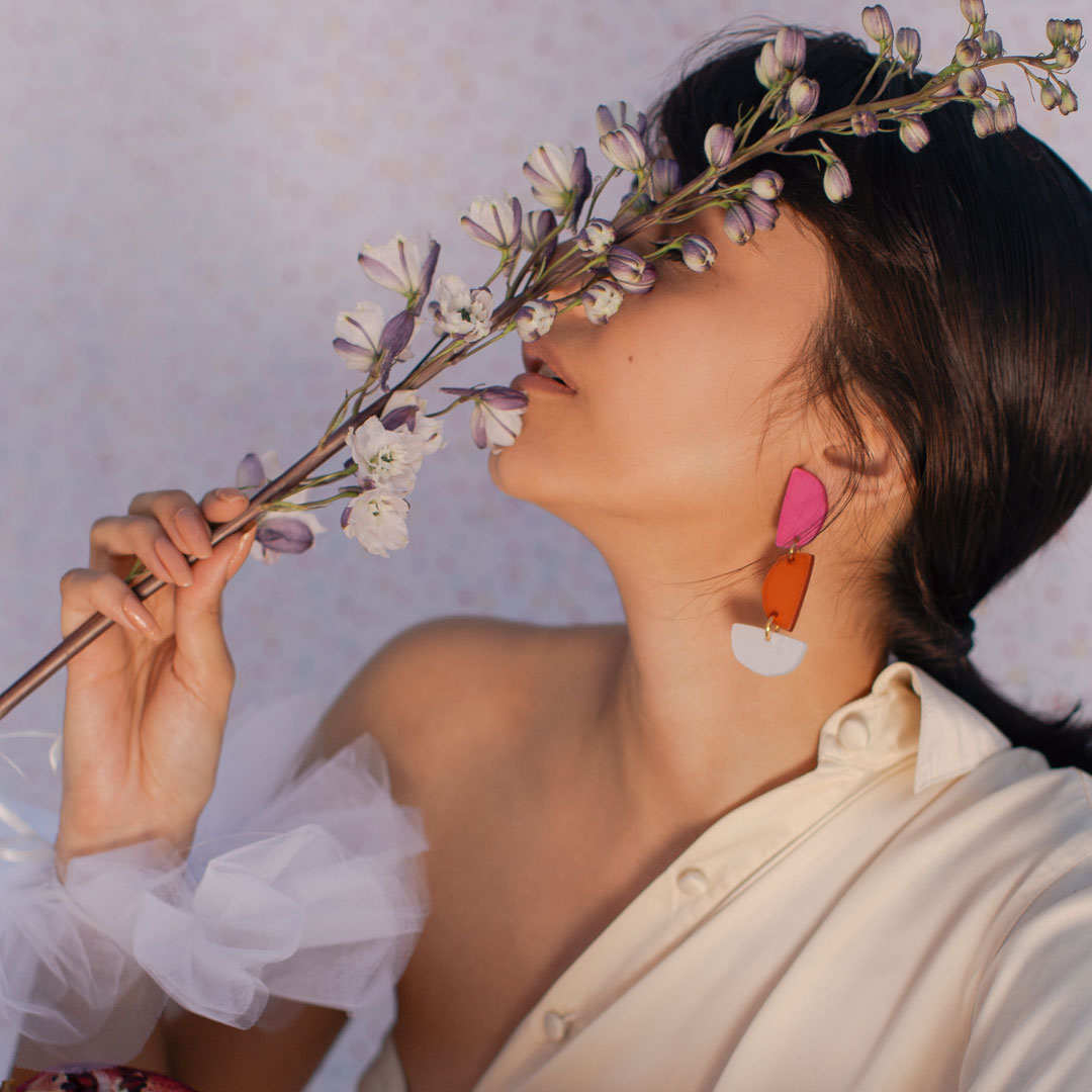 colorful acrylic earrings lina hernandez jewelry new york