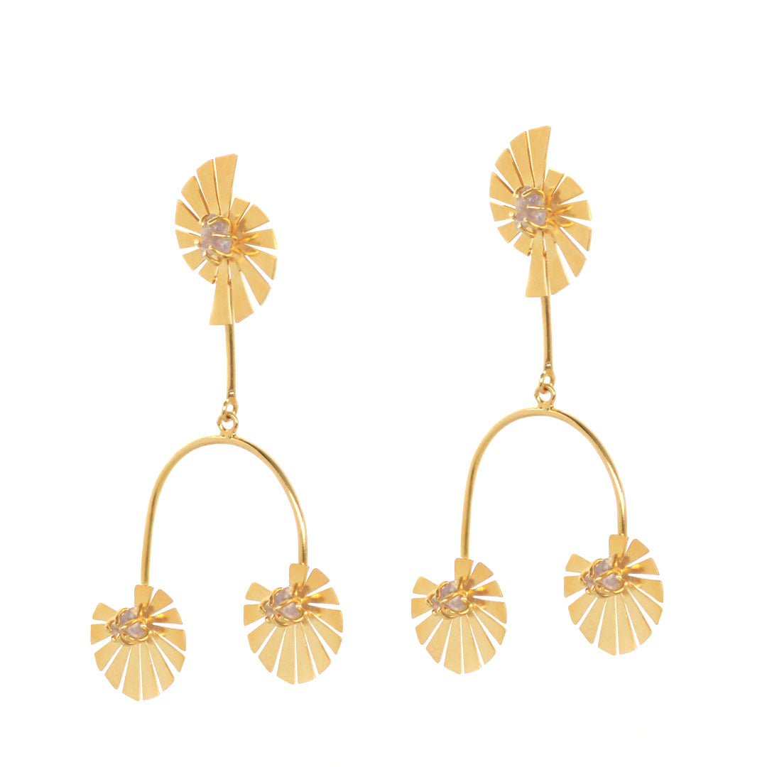 Caro Prism Human Earrings