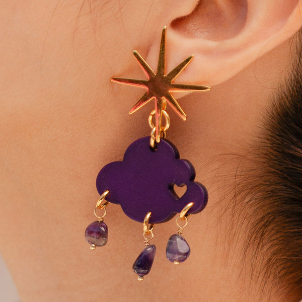 Purple Rain Earrings