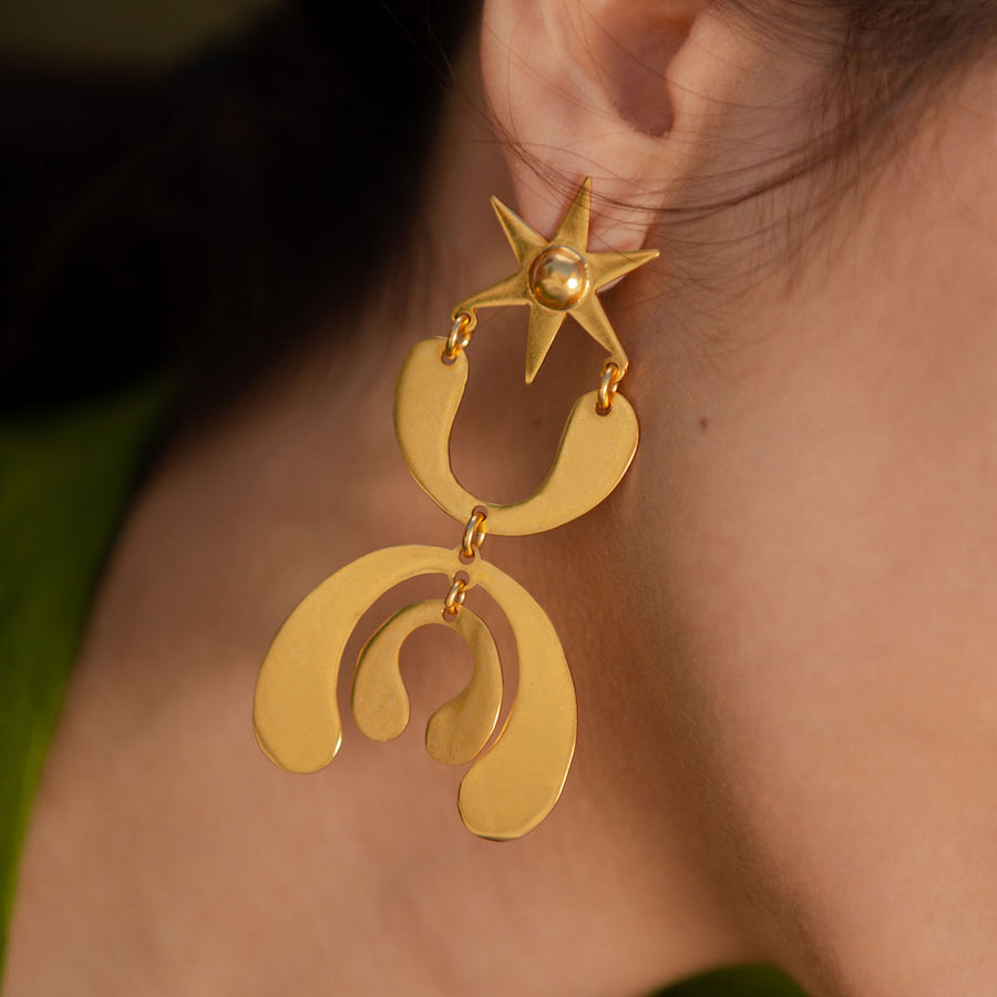 Rio Magdalena Gold Earrings