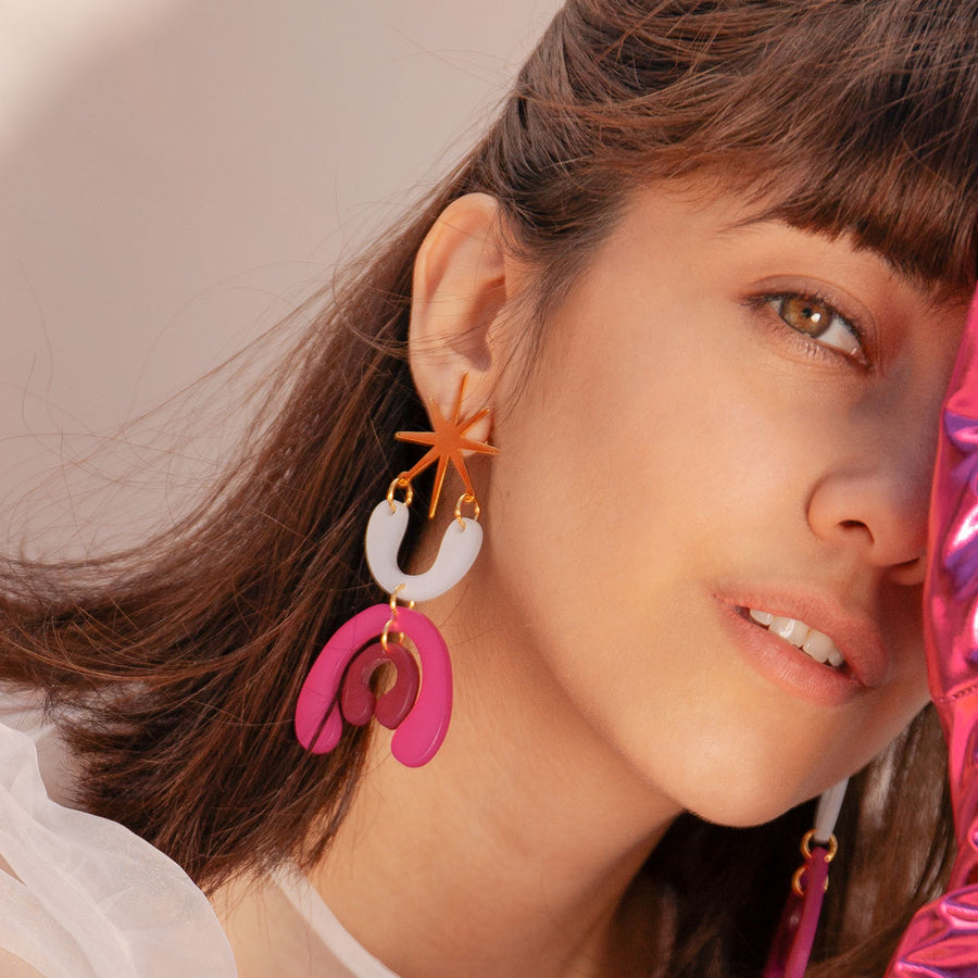 acrylic colorful earrings lina hernandez jewelry