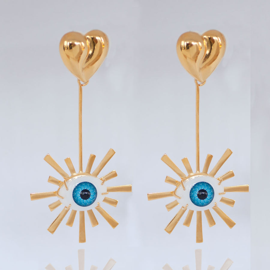 Third Eye Starburst Earrings
