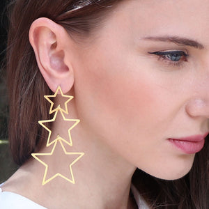 Triple Star Earrings