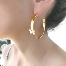 Rosario Butterfly Hoops