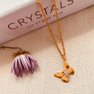 Amethyst Butterfly Necklace