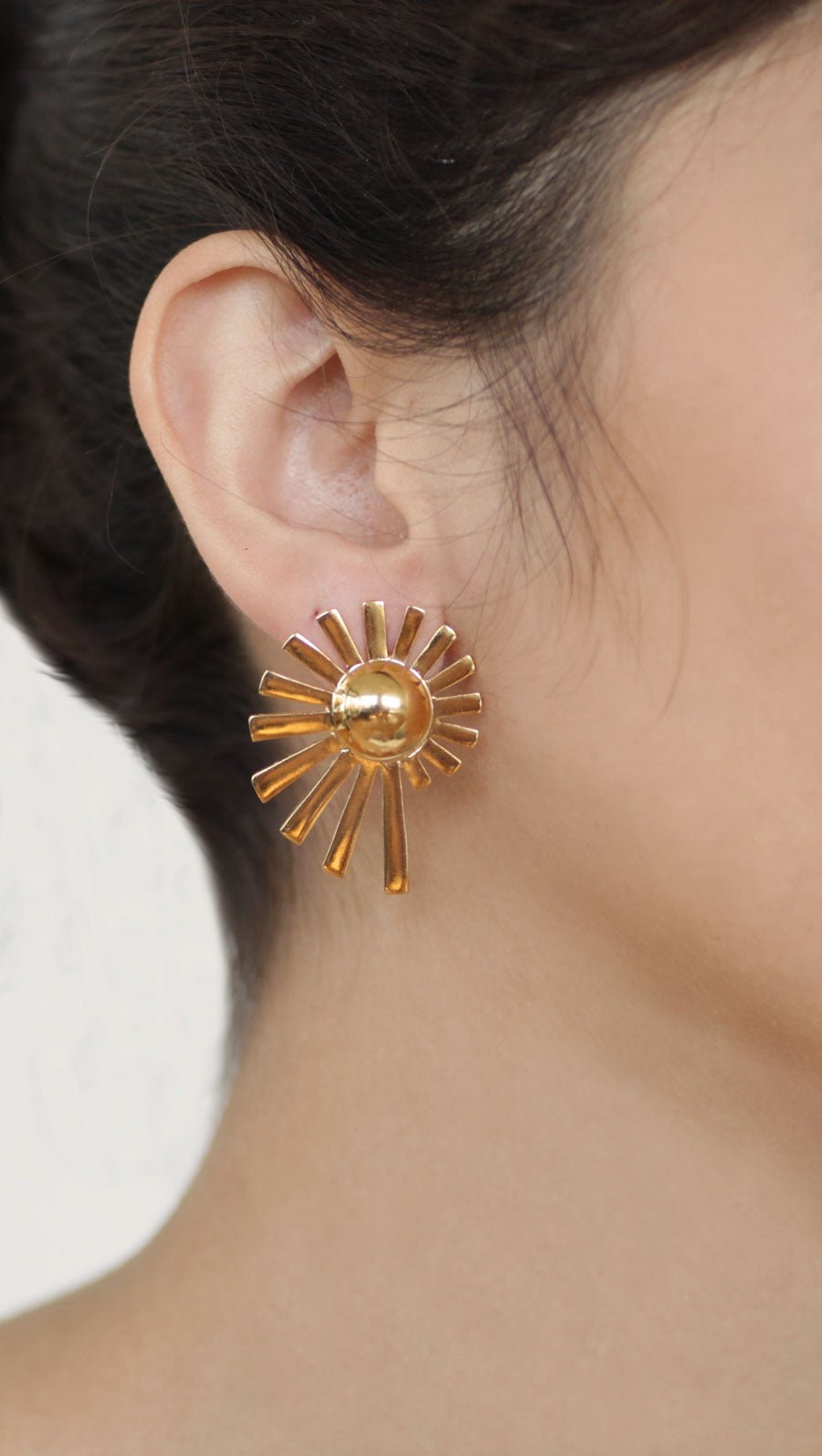 Spiral Of Life Moon Studs-M
