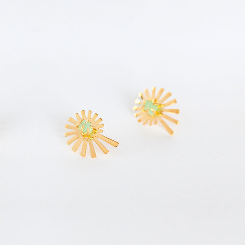 Spiral Of Life Crystal Studs- S