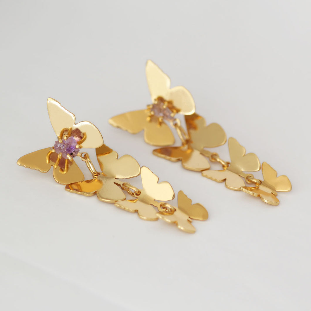 Graduated Waterfall Butterfly Earrings
