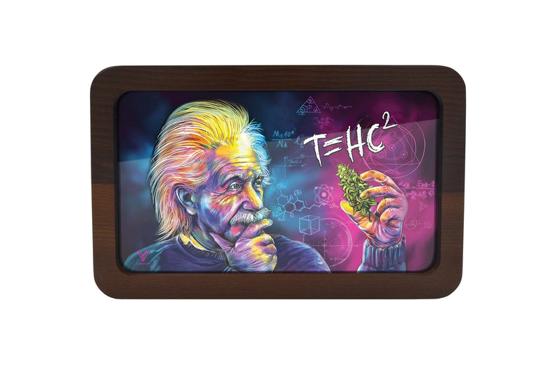 T=HC2 Einstein Classic 3D High Def Wood Rollin' Tray