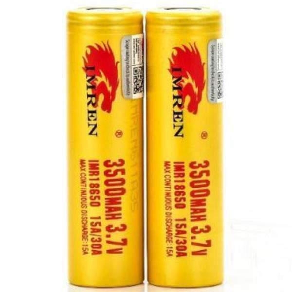 18650 Imren 3500Mah 15A/30A - 2Pk-Batteries-Imren-CRAZE Vapor Wholesale