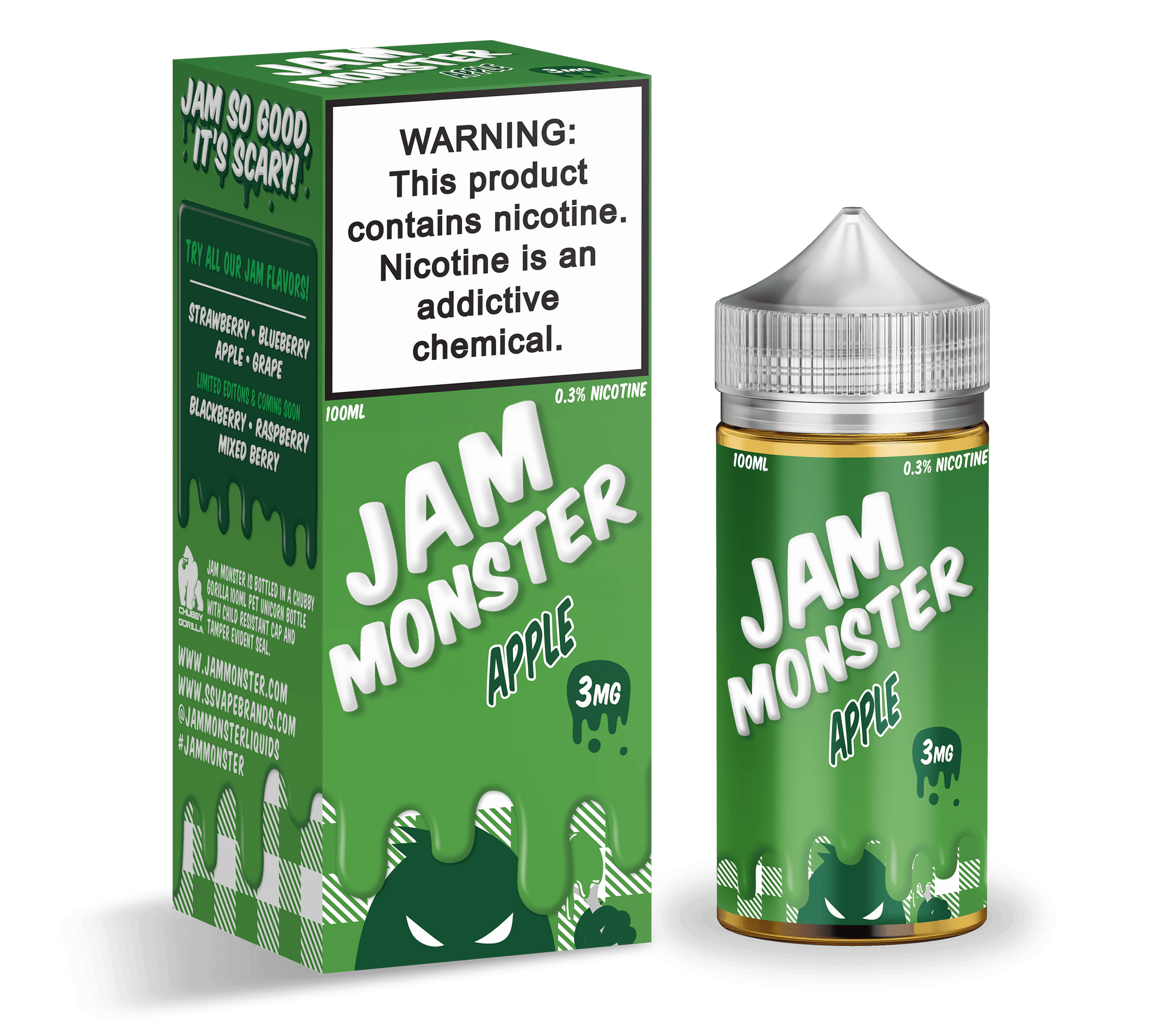 Apple Jam by Jam Monster-eJuice-Jam Monster-100ml-0.0% - 0mg-CRAZE Vapor Wholesale