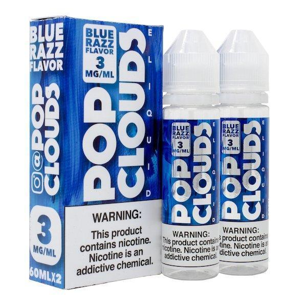 Blue Razz 120ml by Pop Clouds-eJuice-Pop Clouds-120ml (2x60ml)-0.0% - 0mg-CRAZE Vapor Wholesale