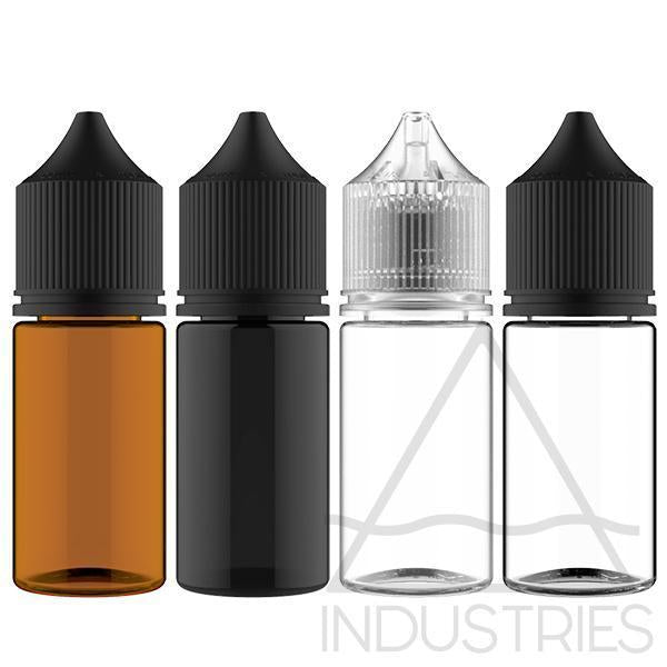Chubby Gorilla V3 Signature Stubby 30ML PET Unicorn Bottles With Child Resistant Caps and Tamper Evident Seal - Case of 1000-Bottles-Chubby Gorilla-CRAZE Vapor Wholesale