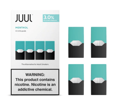 Classic Menthol JUUL Pods 3% 4-Pack | Display of 8-Replacement Pods-Juul-Display of 8-CRAZE Vapor Wholesale