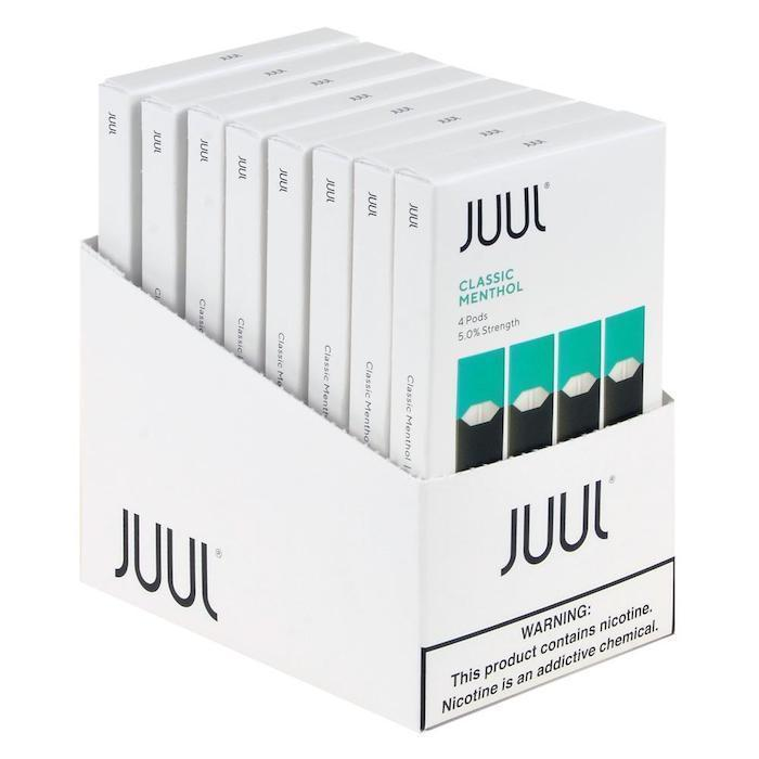 Classic Menthol JUUL Pods 5% 4-Pack | Display of 8-Replacement Pods-Juul-Display of 8-CRAZE Vapor Wholesale
