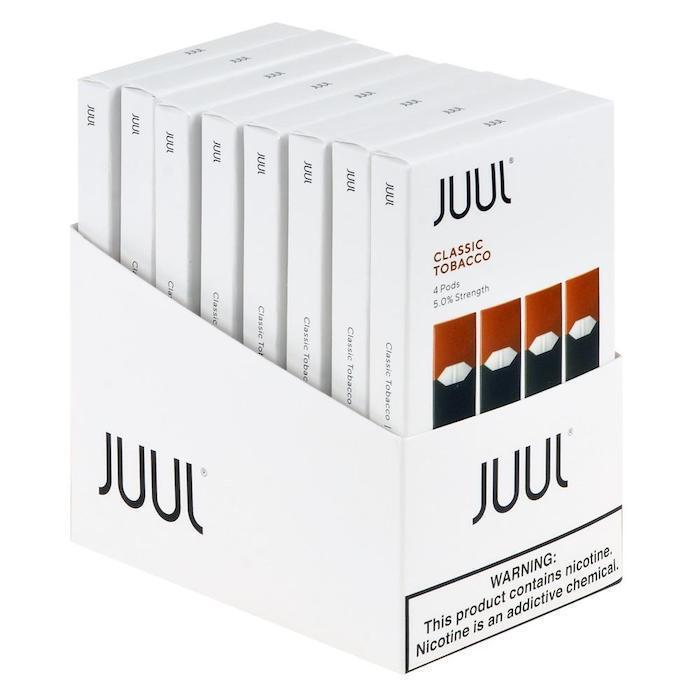 Classic Tobacco JUUL Pods 5% 4-Pack | Display of 8-Replacement Pods-Juul-Display of 8-CRAZE Vapor Wholesale