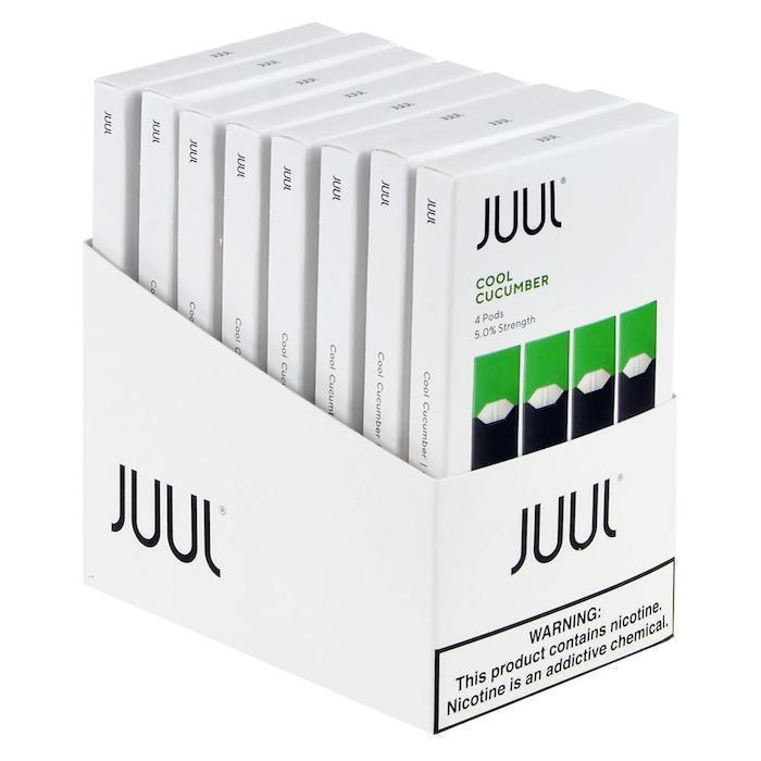 Cool Cucumber JUUL Pods 5% 4-Pack | Display of 8-Replacement Pods-Juul-Display of 8-CRAZE Vapor Wholesale
