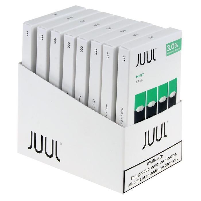 Cool Mint JUUL Pods 3% 4-Pack | Display of 8-Replacement Pods-Juul-Display of 8-CRAZE Vapor Wholesale