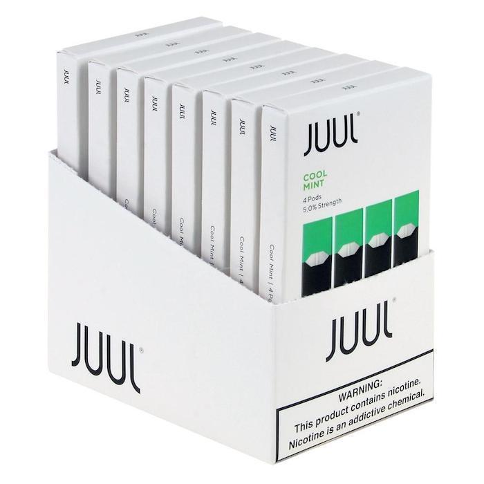 Cool Mint JUUL Pods 5% 4-Pack | Display of 8-Replacement Pods-Juul-Display of 8-CRAZE Vapor Wholesale