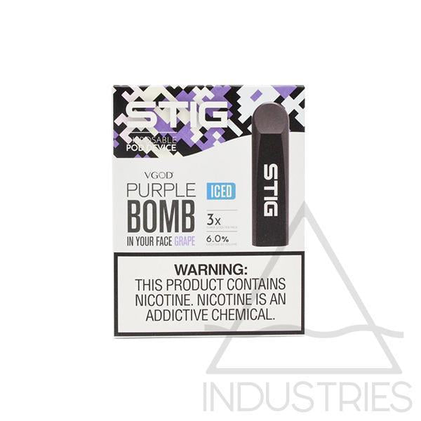 Iced Purple Bomb Disposable Pod Device 60Mg Pack Of 3 - CRAZE Vapor Wholesale