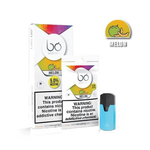 Melon Bo Caps by Bo Vaping-Replacement Pods-Bo Vaping-12-Pack-5.0% - 50mg-CRAZE Vapor Wholesale