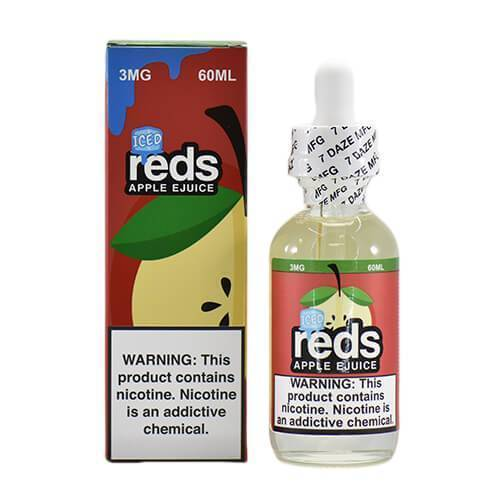 Reds Apple ICED by Reds Apple ejuice-eJuice-Reds Apple eJuice by 7Daze-60ml-0.0% - 0mg-CRAZE Vapor Wholesale