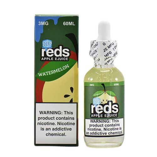 Reds Watermelon ICED by Reds Apple ejuice-eJuice-Reds Apple eJuice by 7Daze-60ml-0.0% - 0mg-CRAZE Vapor Wholesale