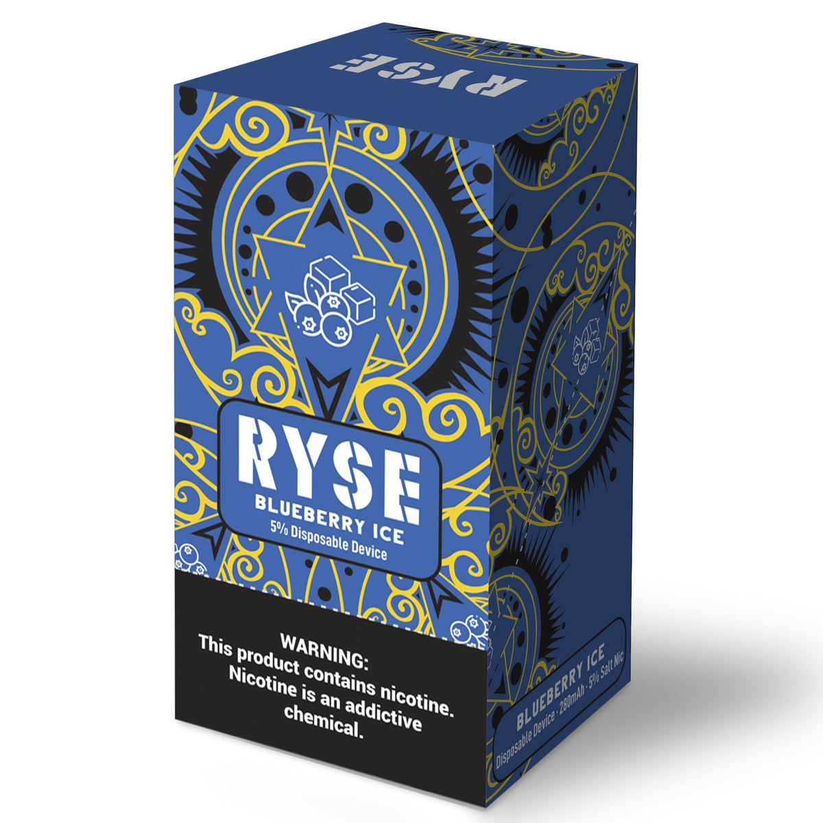 Ryse Disposable 1.3ML 280mAh Prefilled Salt Nicotine Disposable Pod Device - Display of 10 - CRAZE Vapor Wholesale