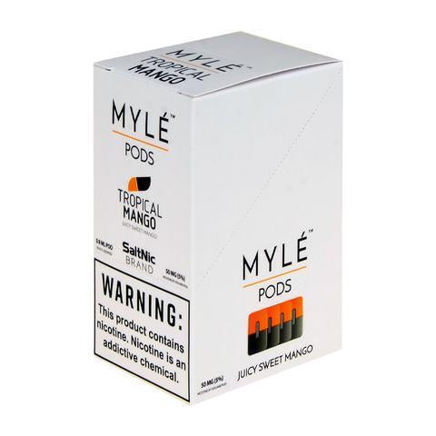 SaltNic E-Liquid Myle Replacement 0.9ML Pods | Tropical Mango | Display of 5-Replacement Pods-Myle-Box (5 Packs)-CRAZE Vapor Wholesale