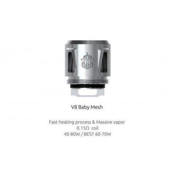 Smok Tfv8 Baby Mesh Coils-Replacement Coils-Smok-Mesh 0.15ohm-Pack-CRAZE Vapor Wholesale