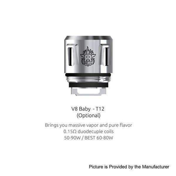 Smok V8 Baby T12 0.15 Ohm Replacement Coils - For Tfv8 Baby And Tfv12 Baby Prince - Pack Of 5-Replacement Coils-Smok-V8-T12 Baby 0.15ohm-5-Pack-CRAZE Vapor Wholesale