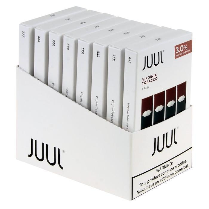 Virginia Tobacco JUUL Pods 3% 4-Pack | Display of 8-Replacement Pods-Juul-Display of 8-CRAZE Vapor Wholesale